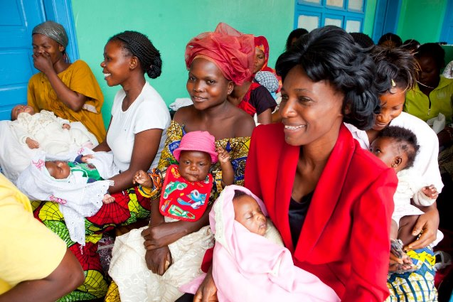 Mothers and babies in the Democratic Republic of Congo.