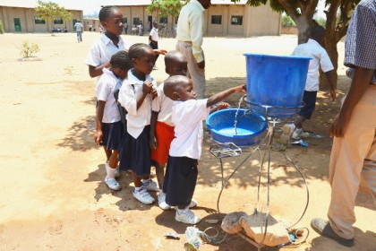St Augustine Primary School: a model for washing hands