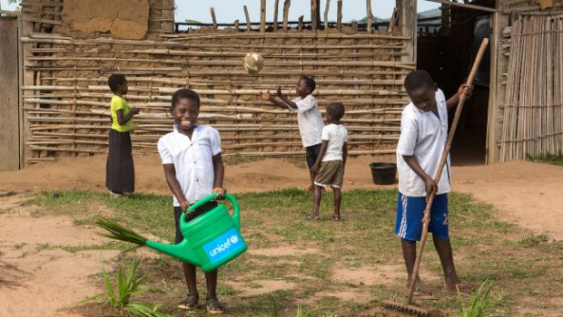 Jean Kabalu is determined to maintain his school clean
