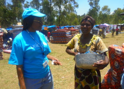 Fairs for essential household items put the smiles back on displaced families' faces