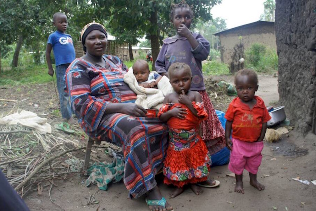 single mother in DRC