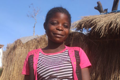 Displaced by conflict, Pascaline gives birth in the bush