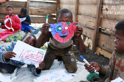 Playing, drawing, creating to change suffering to hope