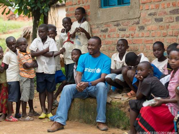 UNICEF staff in the DRCongo