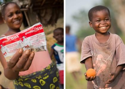 Jean, 37 mois, guéri de malnutrition aiguë sévère