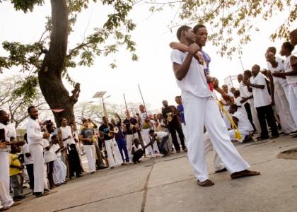 Du Brésil au Congo via Haïti, la capoeira vecteur de paix