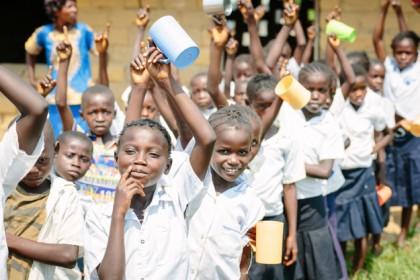 Ecole sans eau, enfants malades