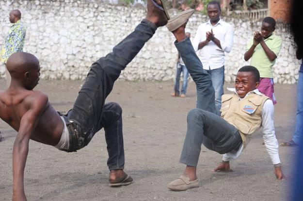 J'ai pratiqué la capoeira lors de la visite de la délégation brésilienne à Goma