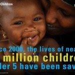 The lives of 50 million children have been saved since 2000