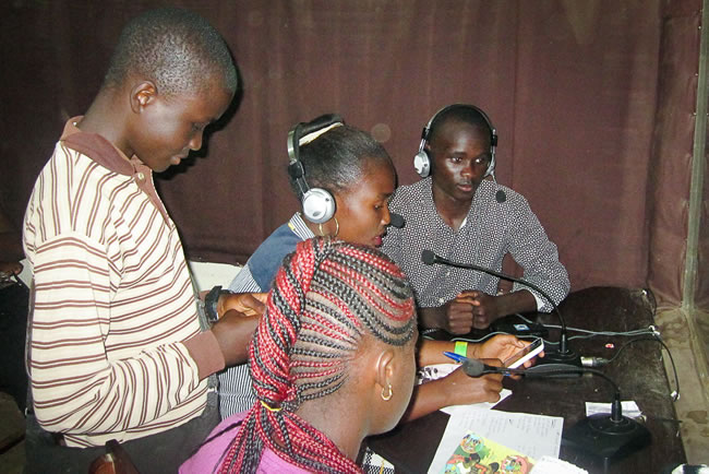 Using radio and television to make Children's Voices heard