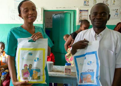 Distribution of kits to improve children's health