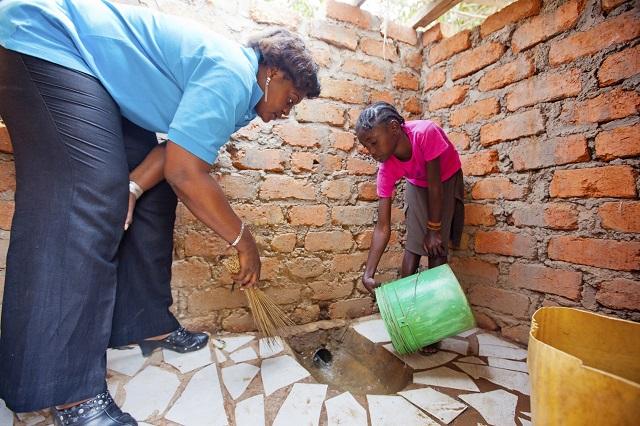 toilettes publiques en RDC