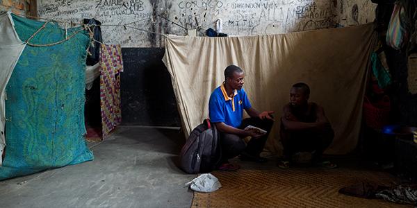 Du soutien pour Olivier, enfant incarcéré à la prison de Mbandaka