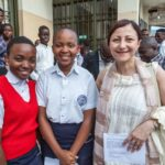 Two ambassadors meet with the children of Goma