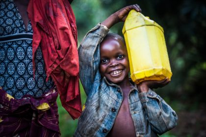 Water, a rare commodity for the people of Kananga