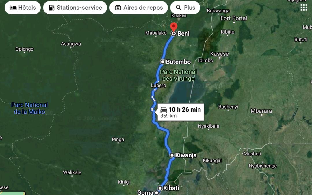 De Goma à Beni pour sauver ma peau après l'éruption du volcan: dur,dur, dur!