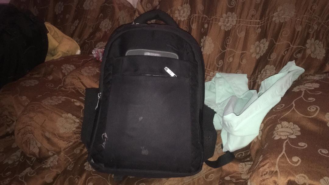 J'ai fait mon petit sac pour quitter Goma avec ma mère et mes soeurs