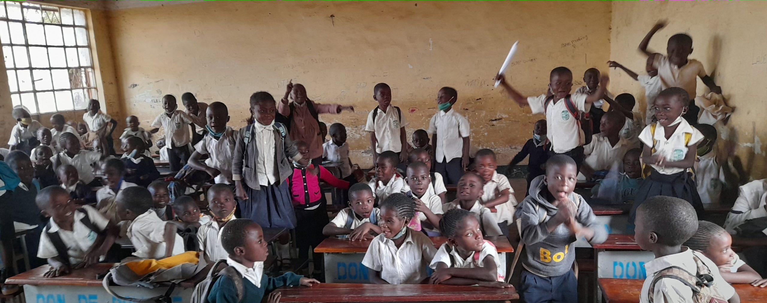 Les élèves à Kipushi